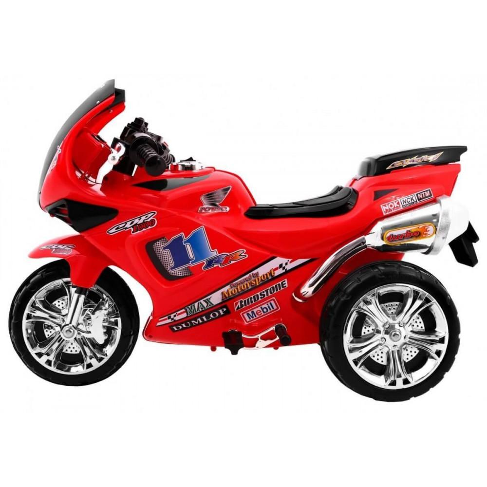 Elektrické motorky - Elektrická motorka RR1000 6V - červená - 2