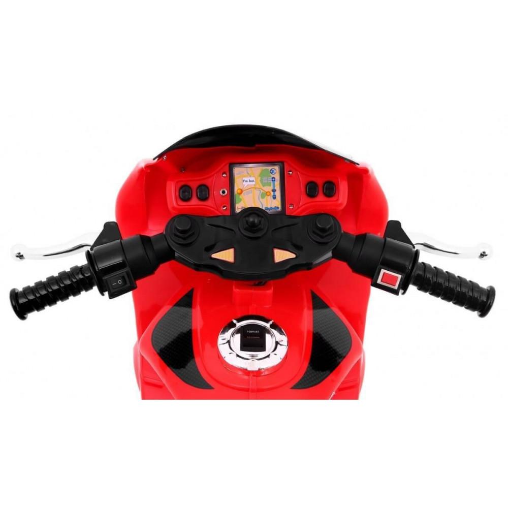 Elektrické motorky - Elektrická motorka RR1000 6V - červená - 4
