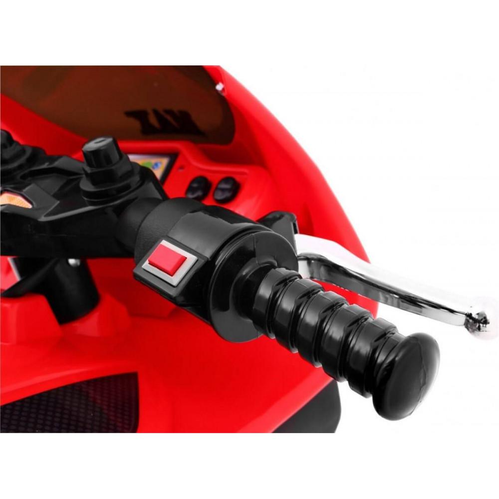 Elektrické motorky - Elektrická motorka RR1000 6V - červená - 5