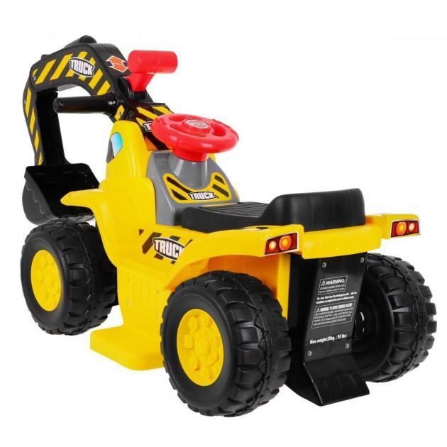 Elektrické traktory - Elektrický bager s radlicou 608B - žltý - 1