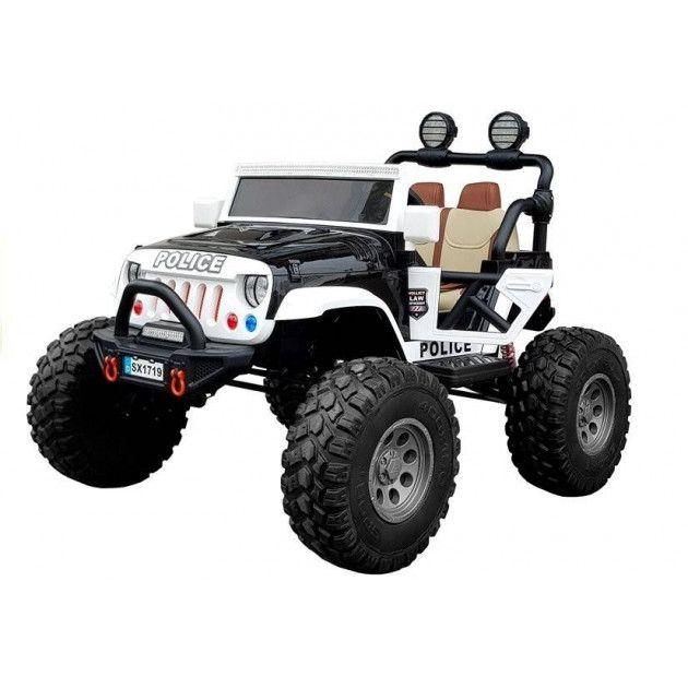 Elektrické autíčka dvojmiestne - Elektrické autíčko Jeep Polícia - 2