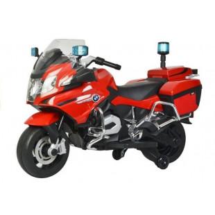 Elektrická policajná motorka BMW 1200 - červená