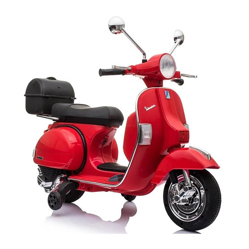Elektrické motorky - Elektrická motorka Vespa - červená - 4