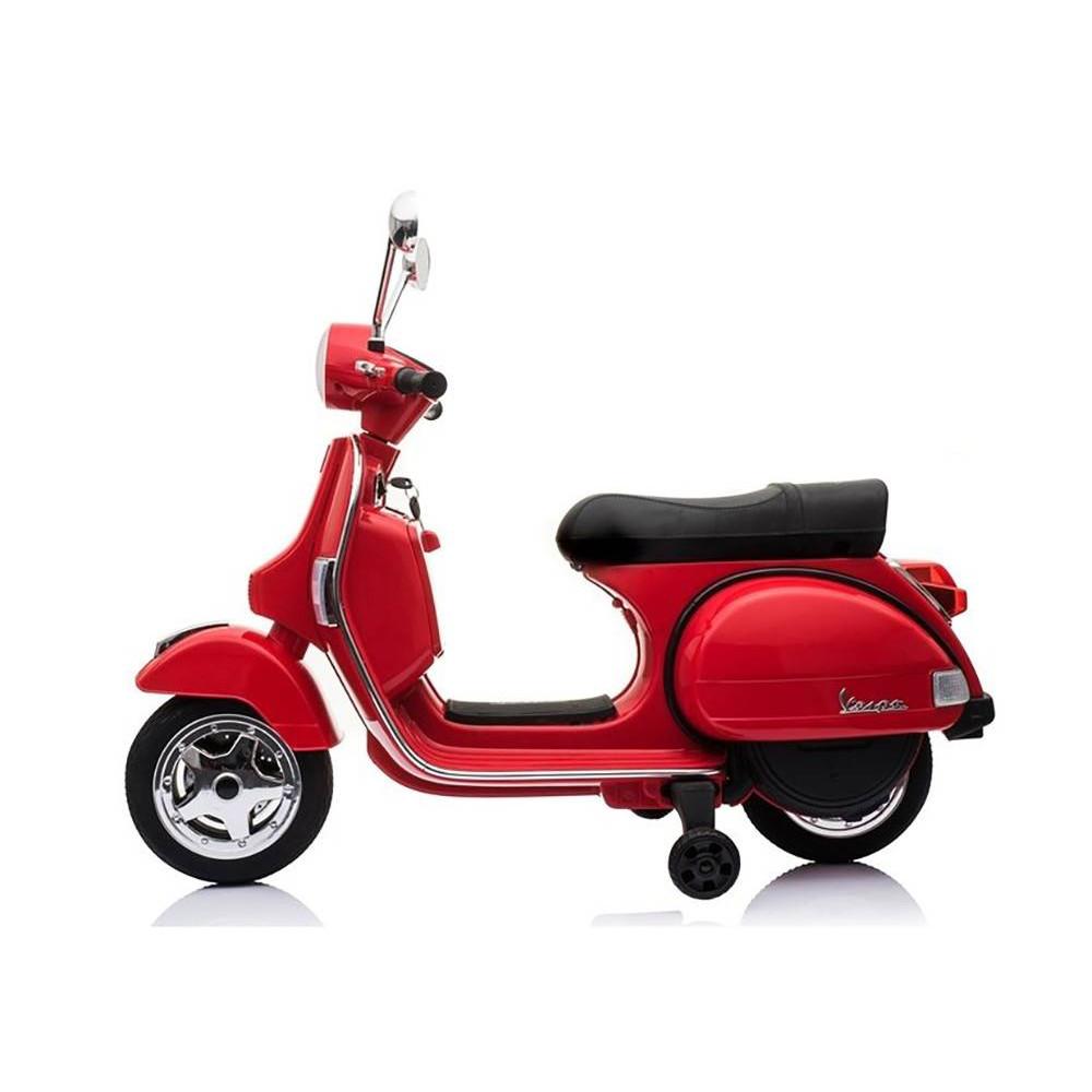 Elektrické motorky - Elektrická motorka Vespa - červená - 3