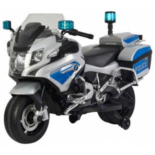 Elektrická policajná motorka BMW 1200 - sivá