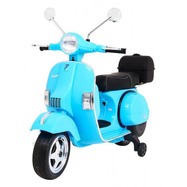 Elektrická motorka Vespa - modrá