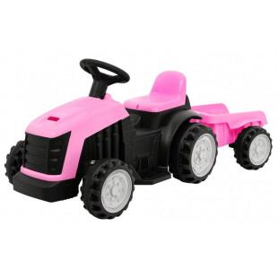 Elektrický traktor s prívesom TR1908T - ružová