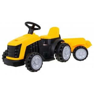 Elektrický traktor s prívesom TR1908T - žltá