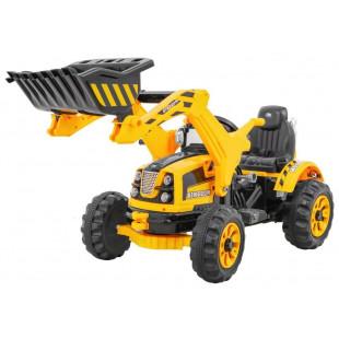 Elektrický traktor s radlicou JS328B - žltý