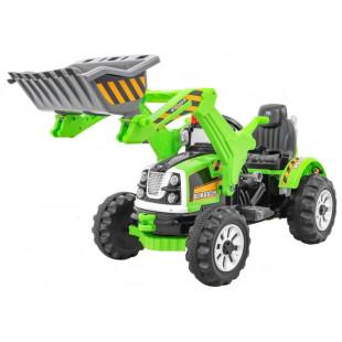 Elektrický traktor s radlicou JS328A - zelený