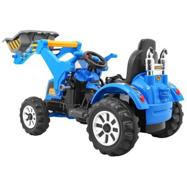 Elektrické traktory - Elektrický traktor s radlicou JS328A - modrý - 1