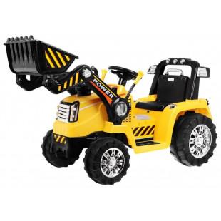 Elektrický traktor s radlicou ZP1005 - žltý
