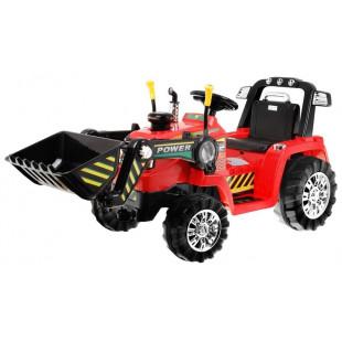 Elektrický traktor s radlicou ZP1005 - červený