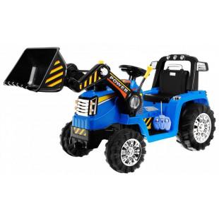 Elektrický traktor s radlicou ZP1005 - modrý