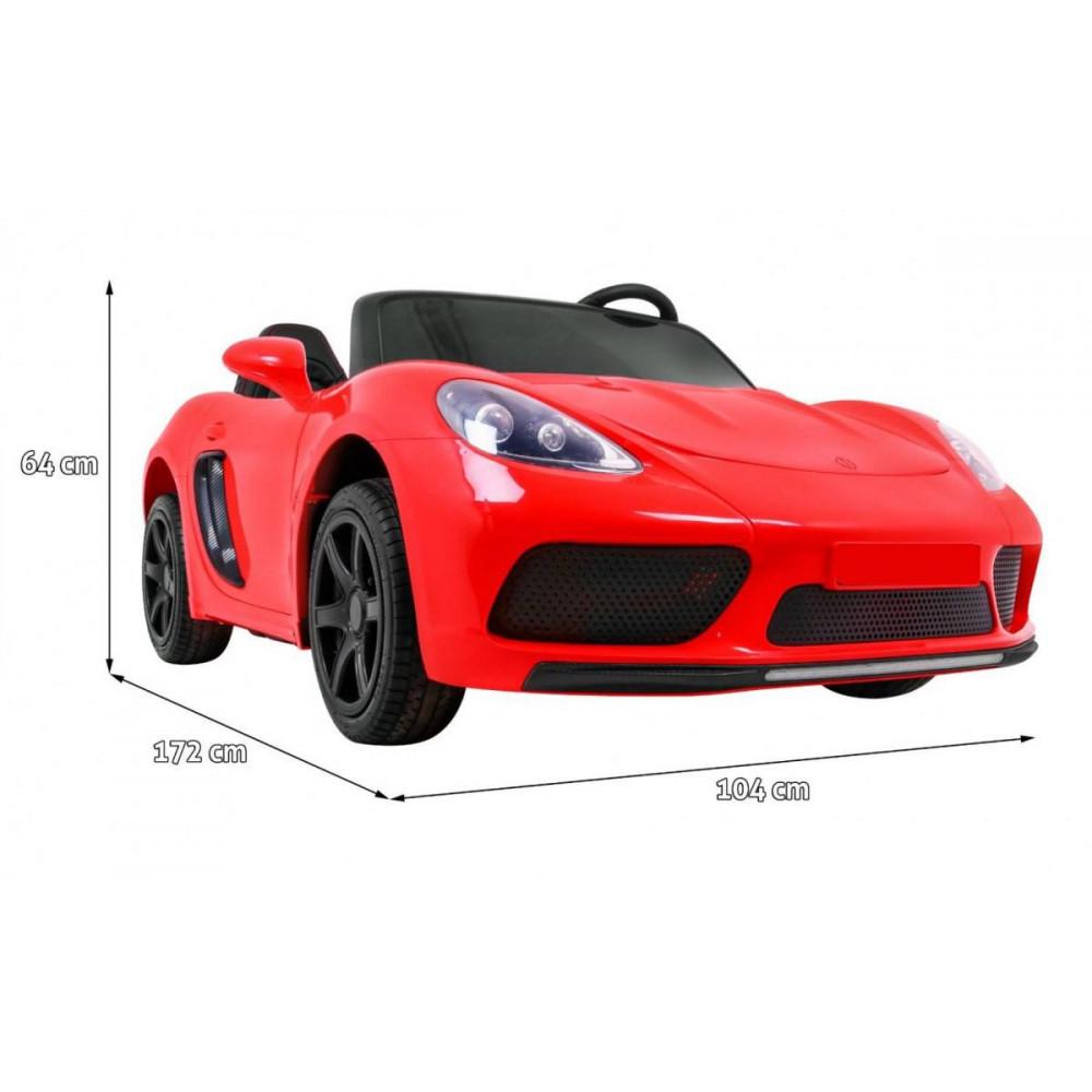 Elektrické autíčka dvojmiestne - Elektricke autíčko Super Sport XL - červená - 3