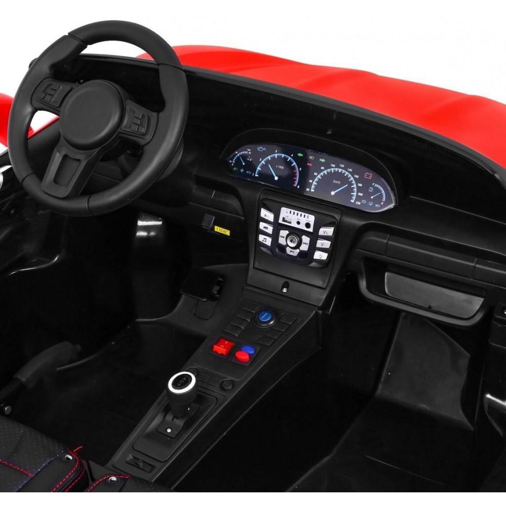 Elektrické autíčka dvojmiestne - Elektricke autíčko Super Sport XL - červená - 12