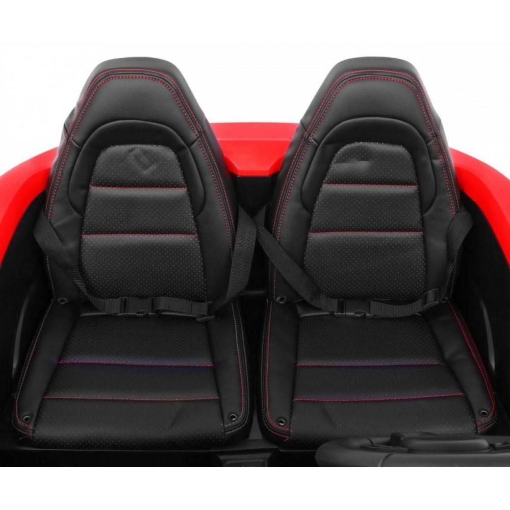 Elektrické autíčka dvojmiestne - Elektricke autíčko Super Sport XL - červená - 15