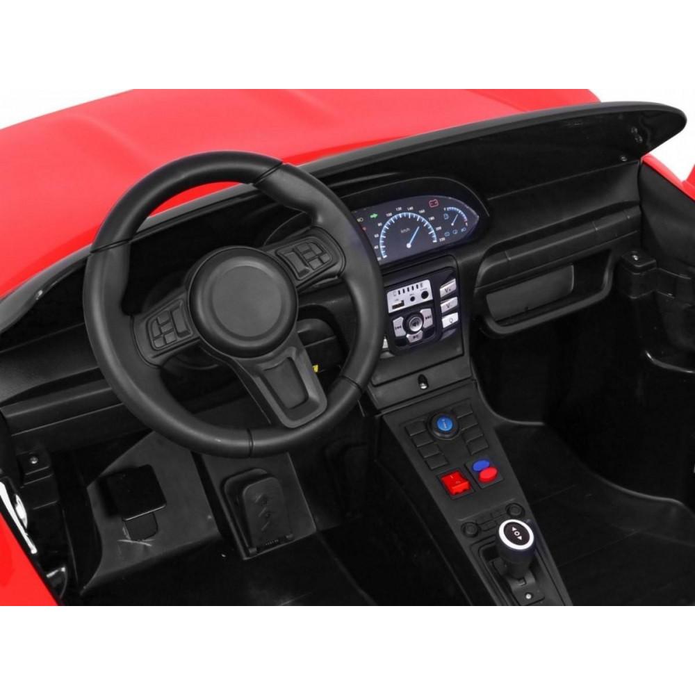 Elektrické autíčka dvojmiestne - Elektricke autíčko Super Sport XL - červená - 13