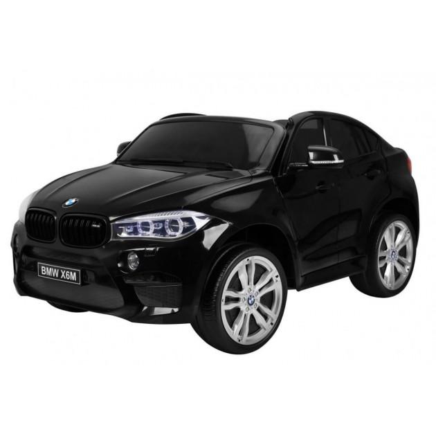 Elektrické autíčka dvojmiestne - Elektrické autíčko BMW X6M LUX - čierna lak - 2
