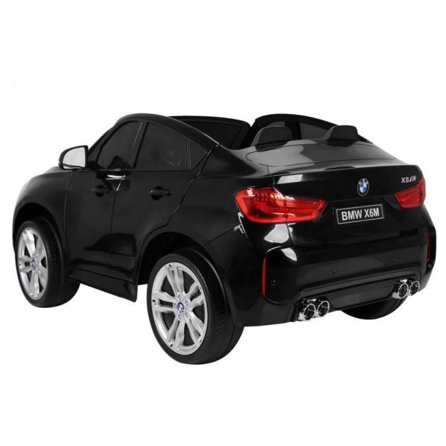 Elektrické autíčka dvojmiestne - Elektrické autíčko BMW X6M LUX - čierna lak - 1