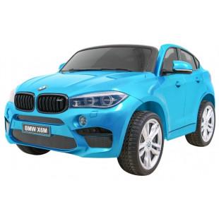 Elektrické autíčko BMW X6M LUX - modrá lak