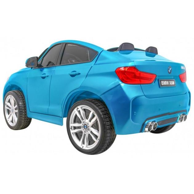 Elektrické autíčka dvojmiestne - Elektrické autíčko BMW X6M LUX - modrá lak - 1