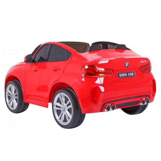 Elektrické autíčka dvojmiestne - Elektrické autíčko BMW X6M LUX - červené - 1