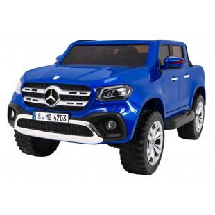 Elektrické autíčko MERCEDES X-CLASS LCD - modrá lak