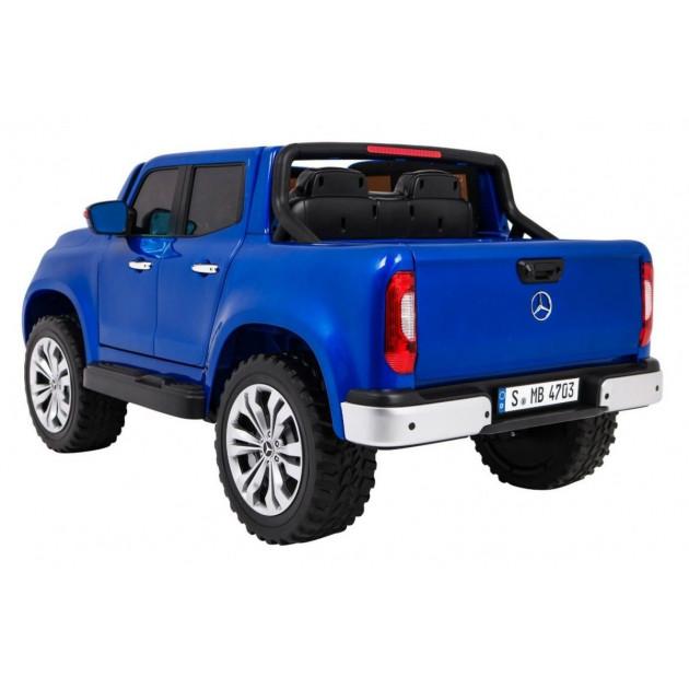 Elektrické autíčka dvojmiestne - Elektrické autíčko MERCEDES X-CLASS LCD - modrá lak - 1