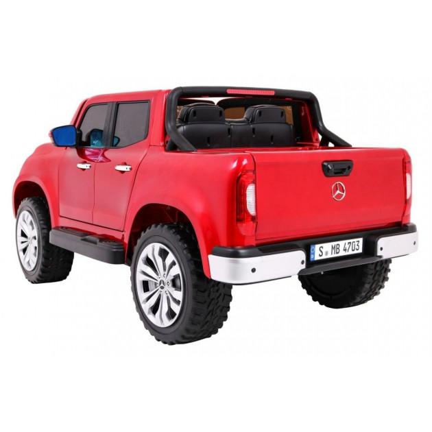 Elektrické autíčka dvojmiestne - Elektrické autíčko MERCEDES X-CLASS LCD - červená lak - 1