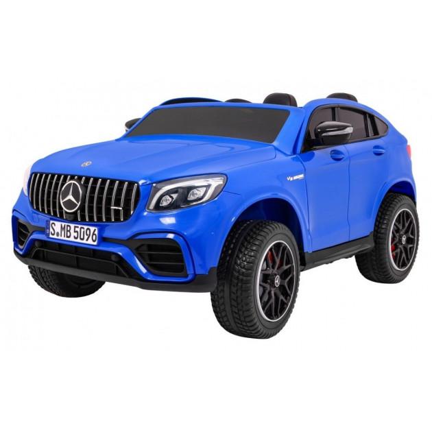 Elektrické autíčka 4x4 - Elektrické autíčko Mercedes GLC 63S - modrá - 2