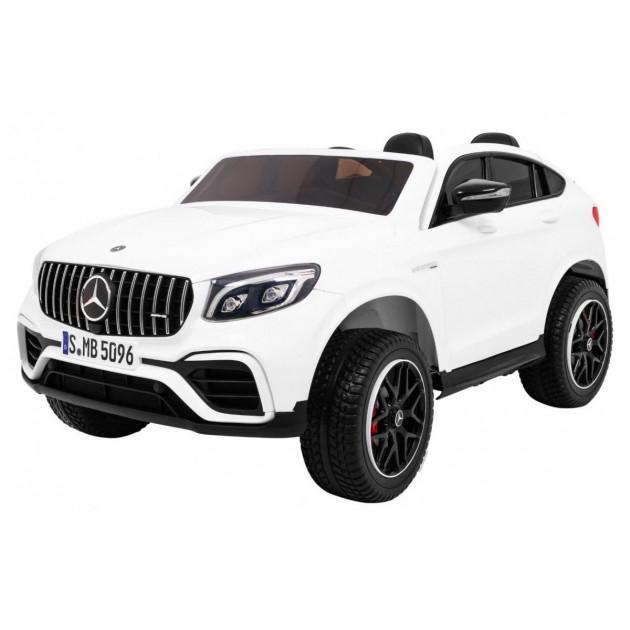 Elektrické autíčka 4x4 - Elektrické autíčko Mercedes GLC 63S - biela - 2
