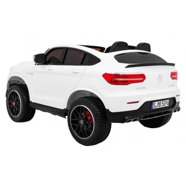 Elektrické autíčka 4x4 - Elektrické autíčko Mercedes GLC 63S - biela - 1