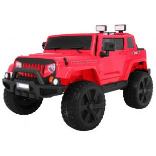 Elektrické autíčko JEEP Monster - červená