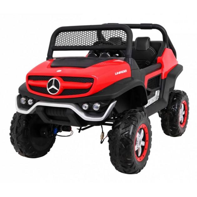 Elektrické autíčka 4x4 - Elektrické autíčko Mercedes UNIMOG - červená - 2
