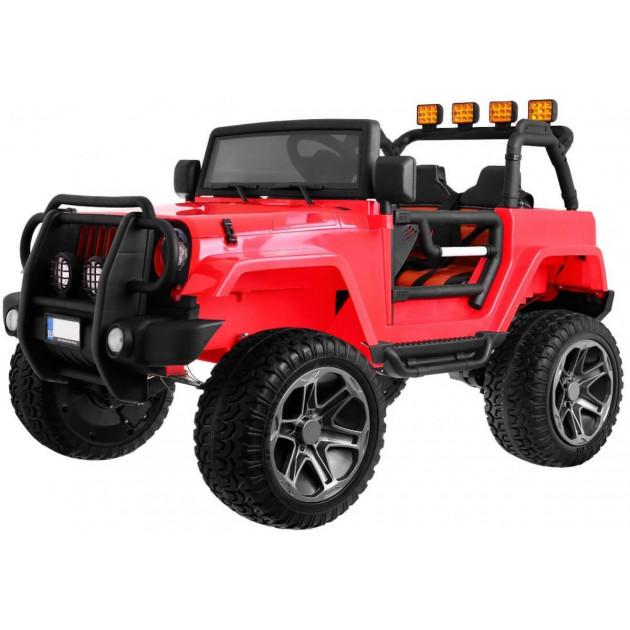 Elektrické autíčka 4x4 - Elektrické autíčko Jeep Wrangler Big - červená - 2