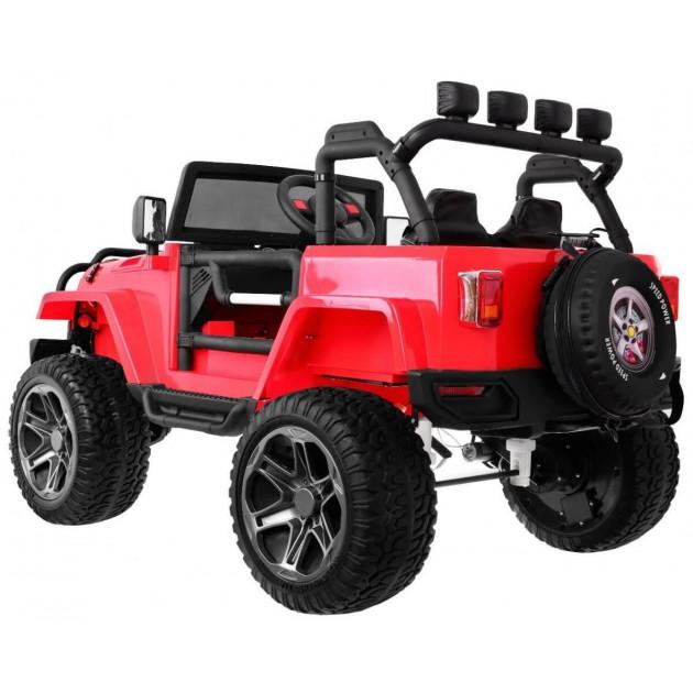 Elektrické autíčka 4x4 - Elektrické autíčko Jeep Wrangler Big - červená - 1