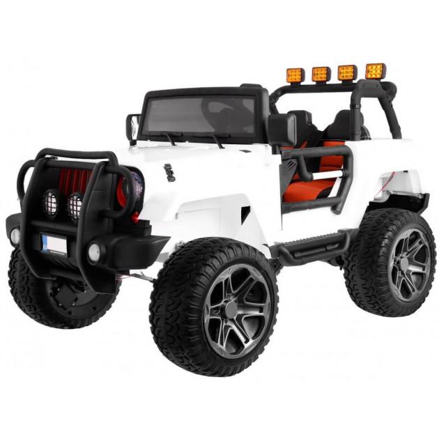 Elektrické autíčka 4x4 - Elektrické autíčko Jeep Wrangler Big - biela - 2