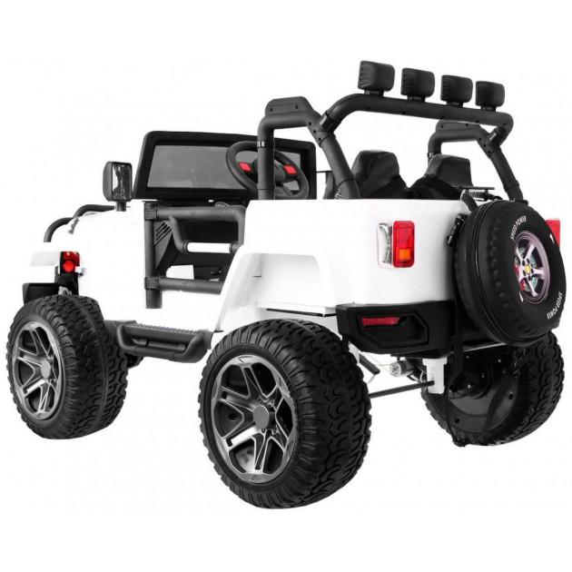 Elektrické autíčka 4x4 - Elektrické autíčko Jeep Wrangler Big - biela - 1
