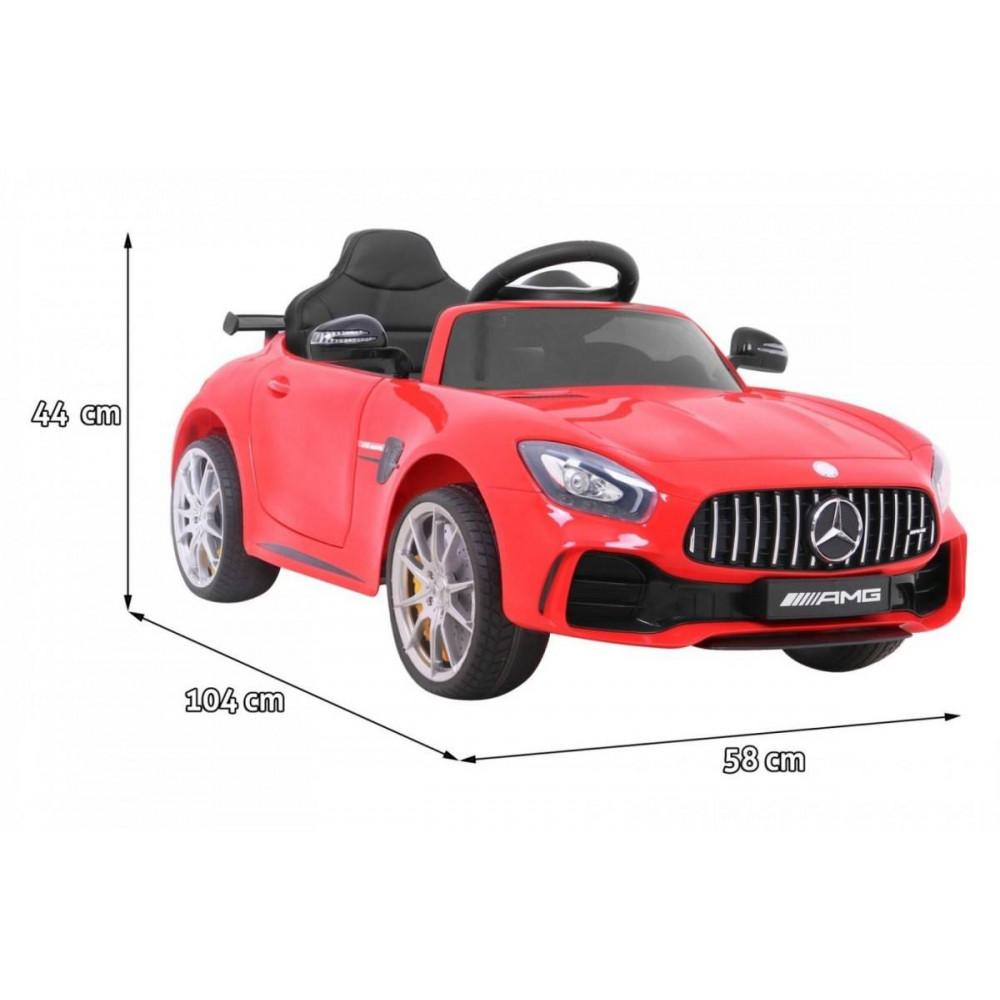 Elektrické autíčka licencované - Elektrické autíčko Mercedes AMG GTR - červená - 3