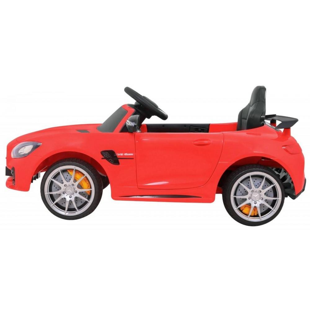 Elektrické autíčka licencované - Elektrické autíčko Mercedes AMG GTR - červená - 4