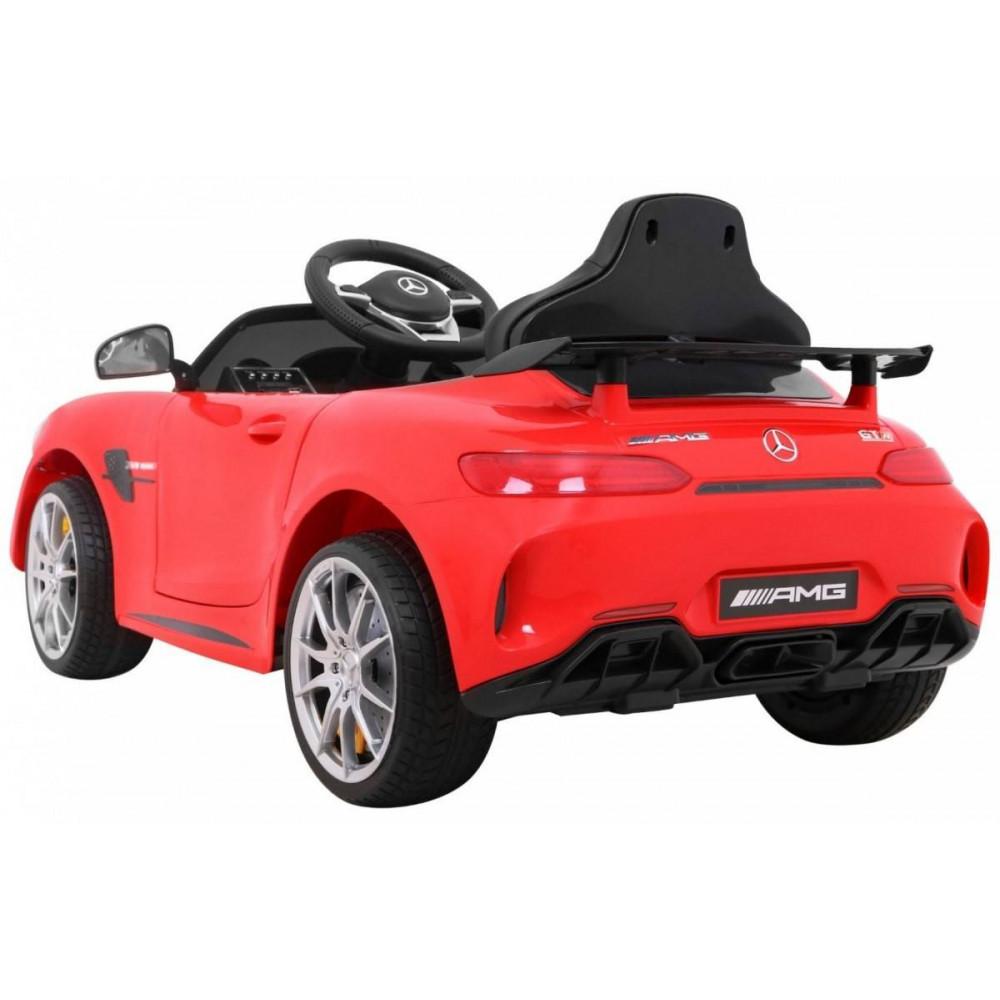 Elektrické autíčka licencované - Elektrické autíčko Mercedes AMG GTR - červená - 1