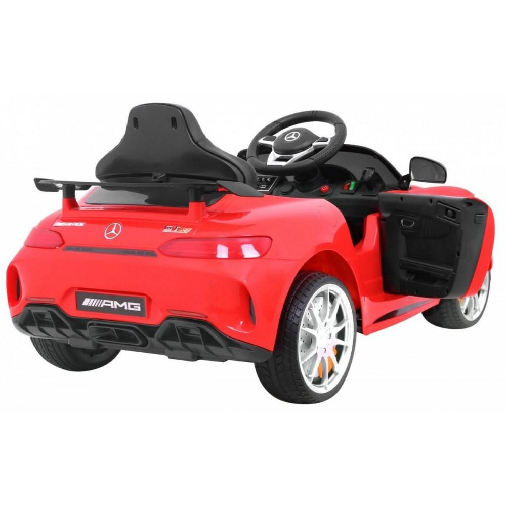 Elektrické autíčka licencované - Elektrické autíčko Mercedes AMG GTR - červená - 6