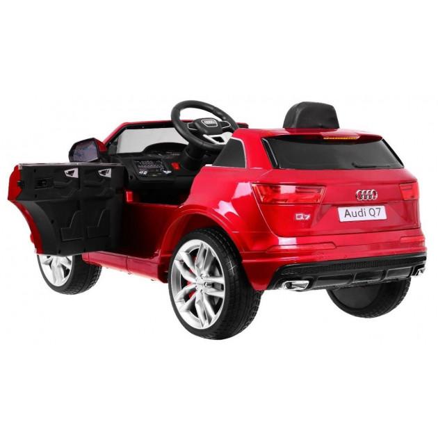 Elektrické autíčka licencované - Elektrické autíčko Audi Q7 - červená lak - 1