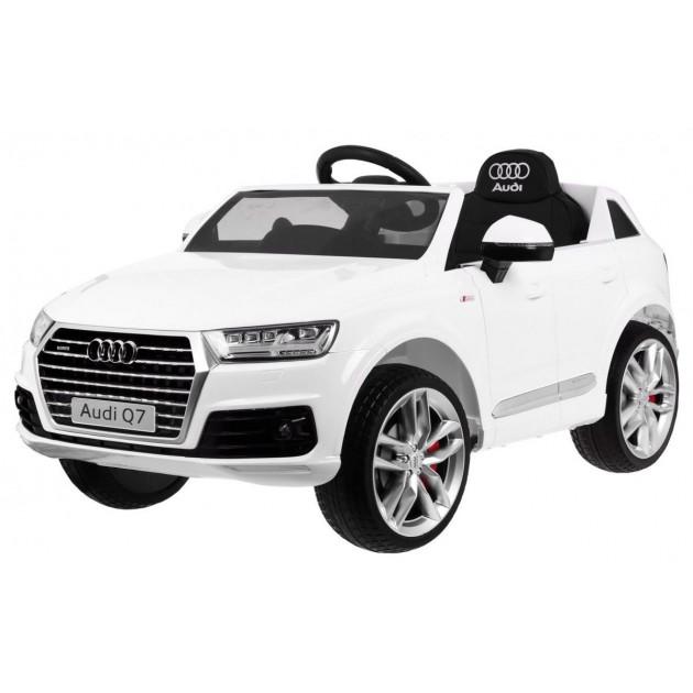 Elektrické autíčka licencované - Elektrické autíčko Audi Q7 - biela - 2