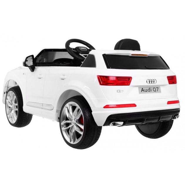 Elektrické autíčka licencované - Elektrické autíčko Audi Q7 - biela lak - 1
