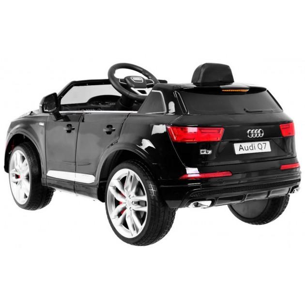 Elektrické autíčka licencované - Elektrické autíčko Audi Q7 - čierna lak - 1