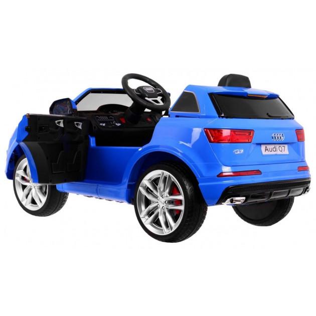 Elektrické autíčka licencované - Elektrické autíčko Audi Q7 - modrá - 1