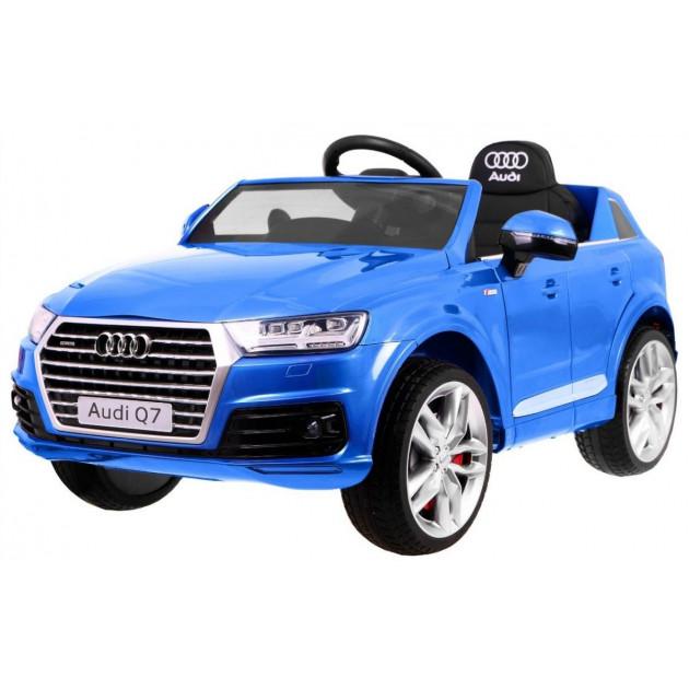 Elektrické autíčka licencované - Elektrické autíčko Audi Q7 - modrá lak - 2