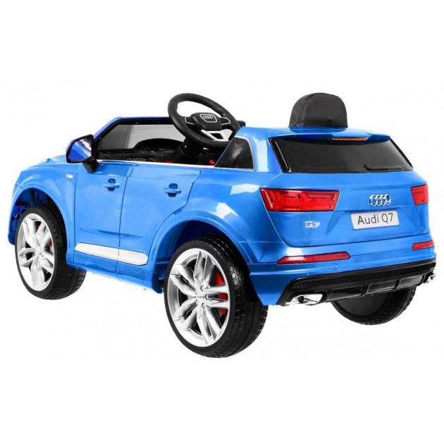 Elektrické autíčka licencované - Elektrické autíčko Audi Q7 - modrá lak - 1